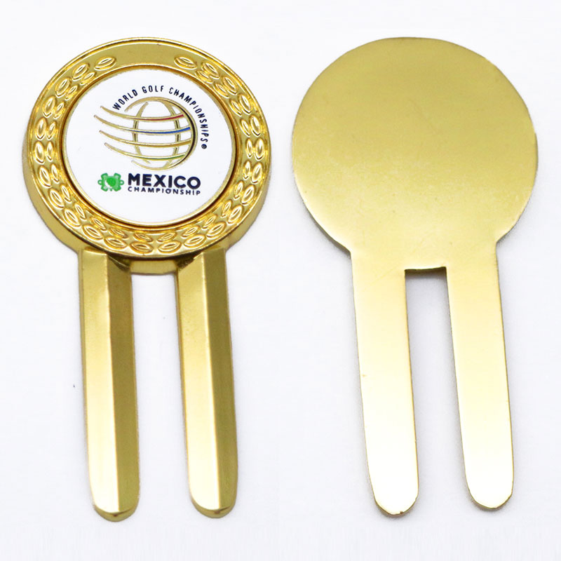 blank metal golf divot tool