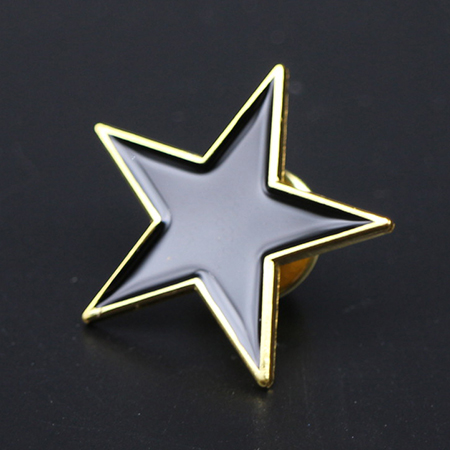 Black enamel star pins