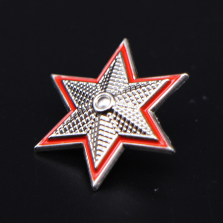 Hexagon star badge