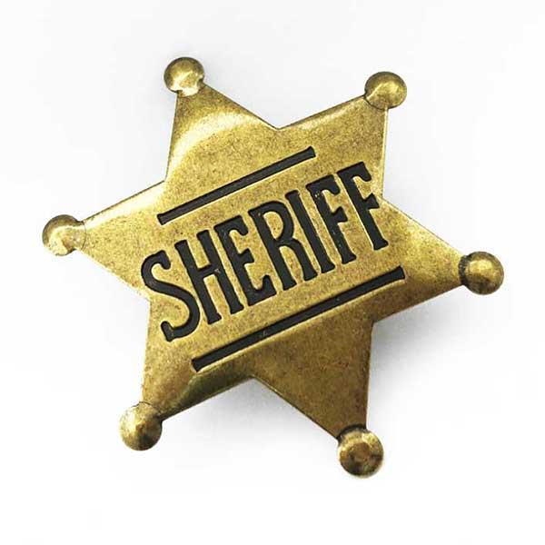 custom metal pin sheriff military badge with anti-gold plating